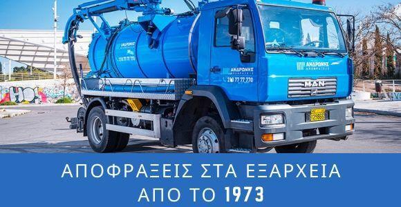 Αποφράξεις στα Εξάρχεια Αθήνας απο το 1973